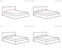 Drawing Of A Bed How To Draw A Bed Step By Step How To Draw Bed For Kids Step Step