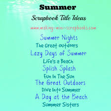 halloween party title some summer scrapbook title ideas summer themed mini albums