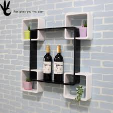 Wooden Wall Shelves Pan Natural Cherry Wooden Wall Shelves Decorative Storage Cabinet