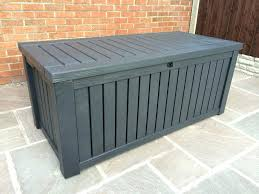 Outdoor Storage Bench Waterproof Plastic Garden Storage Bench Seat Full Image For Outdoor Storage