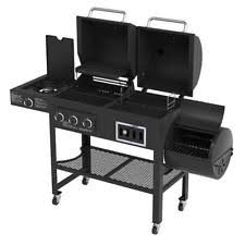 Backyard Grill Gas Grill by Backyard Grill Dual Gas Charcoal Smoker Outdoor Bbq Propane Party