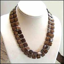 large wood bead necklace images Mens wood beaded necklaces verleihen info jpg