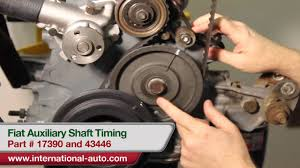 auxiliary shaft timing international auto parts youtube