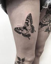 22 best hip and thigh butterfly tattoos images on
