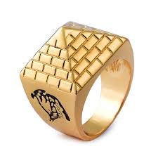 aliexpress buy nyuk new fashion american style gold nyuk new arrival pyramids alloy metal men rings gold color