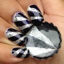 nail art how to royal silver stripes nail it