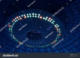 ufo spaceship landing ceiling lights stock photo 1314857