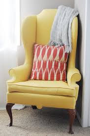 Wing Back Chair Design Ideas Yellow Wingback Chair Design Ideas Eftag