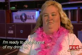 Bachelorette Party Meme - here comes honey boo boo mama june downs shots and grinds at her