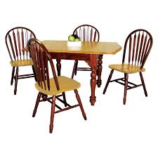 sunset trading rectangular dining table with drop leaves and