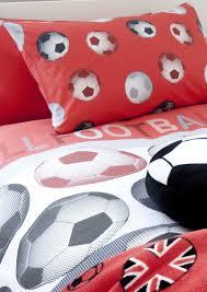 Kids Football Room by Catherine Lansfield Kids Football Single Duvet Set Red Amazon