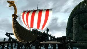 gokstad sailable ship and portable player home at skyrim nexus