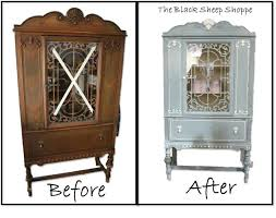 curved glass china cabinet antique china cabinets vibrant idea painted china cabinet blue white