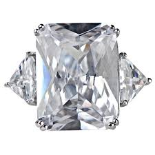 large engagement rings style large cz engagement ring