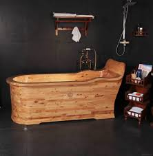 wooden soaking tub bathtub with seat tub kx 616 kangxi