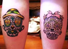 his and hers skull tattoos tattoo collections