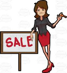 a female real estate broker closing a sale deal of a property