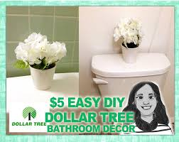 Dollar Tree Decorating Ideas Quick Diy Dollar Tree Bathroom Decor 2 For 5 Youtube