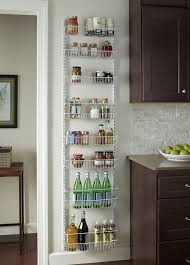 kitchen wall shelving ideas amazon com closetmaid 1233 adjustable 8 tier wall and door rack