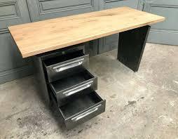 bureau industriel metal bois intérieur de la maison bureau industriel metal with ancien bureau