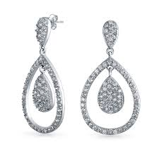drop earrings wedding kate middleton royal wedding inspired cz teardrop earrings