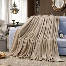 sky blue fleece blankets on the bed sofa super soft couch throw