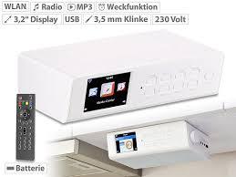 internetradio küche vr radio wlan küchen internetradio mit wecker usb ladestation 8