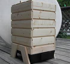 wooden stacking worm bin worm composting