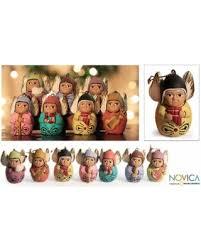 great deals on novica set of 7 handmade ceramic choir
