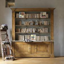 Elegant Bookcases Furniture Home Large Wooden Bookcases Solid Wood Bookshelves