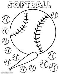 baseball and softball coloring pages in page eson me