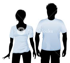 t shirt and polo shirt design template with black body silhouette