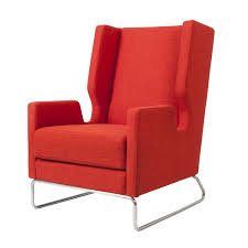 modern red chair decor red modern upholstered wing back chairs