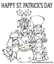 st patricks day 2013 coloring page v2 angry squirrel studio