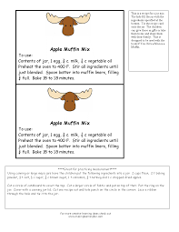 recipes for moose a muffin theme