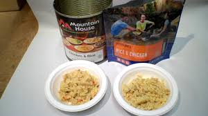 review military chicken and rice can by mountain house freeze