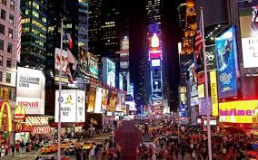 hd background new york city manhattan times square street night