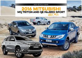triton mitsubishi 2016 2016 mitsubishi mq triton and qe pajero sport recall unsealed 4x4