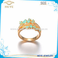 girls stone rings images China beautiful blue stone with 18k plating gold ring for girl on jpg