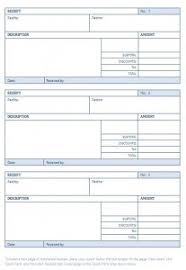 blank receipt template word excel formats