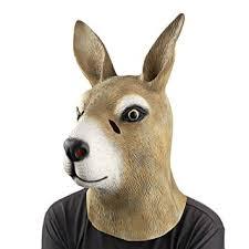 Animal Halloween Costume Amazon Kangaroo Head Mask Animal Mask Monstleo Halloween