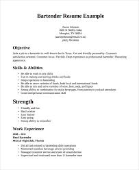 Resume Template For Bartender Bartending Resume Template Bartender Resume Sle Resume