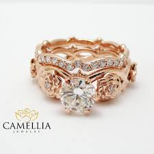 real diamond rings images Unique diamond promise rings rose gold ring set real diamond jpg