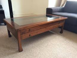 coffee table coffee table appealing square glass top wood large