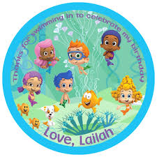 Bubble Guppies Birthday Decorations Bubble Guppies Birthday Thank You Tags Partyexpressinvitations