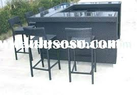 patio bar set 612 outdoor patio bar table and chairs tiki all