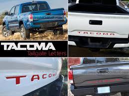 toyota tacoma tailgate toyota tacoma rear tailgate letters inserts tacoma letters