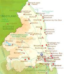map of rothbury rothbury cing and touring northumberland