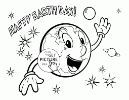 funny earth earth day coloring page for kids coloring pages