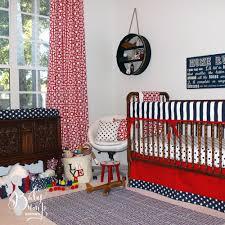 Baby Boy Blue Crib Bedding by Navy Red Stars Stripes Americana Baby Boy Crib Bedding